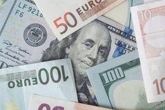 Доллар и евро Стоковые Изображения
