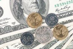 Доллар и деньги sen Стоковые Фотографии RF