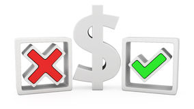 Доллар или не? бесплатная иллюстрация