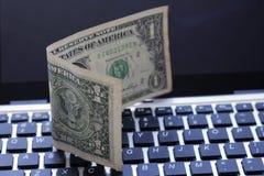 Доллар и клавиатура Стоковое Изображение