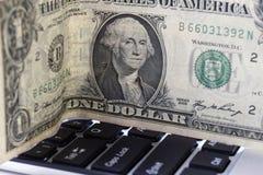 Доллар и клавиатура Стоковое фото RF