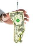 Доллар на крюке стоковые фотографии rf