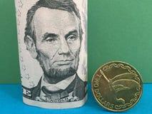 Доллар Новой Зеландии против доллара США Стоковое Изображение RF