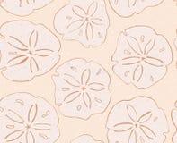 Доллар песка на желтом цвете иллюстрация штока