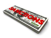 Доллар-санкции иллюстрация штока
