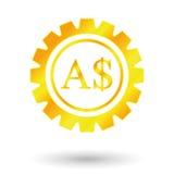 Доллар символа золота Иллюстрация штока
