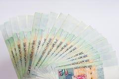Доллар Сингапура, банкнота Сингапур на белом изоляте предпосылки Стоковые Изображения RF