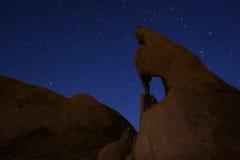 Долгая выдержка звезды над национальным парком дерева Иешуа Стоковое Изображение RF