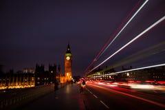Долгая выдержка моста Вестминстера Стоковые Изображения