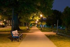 Долгие выдержки во время nighttime на федеральном холме в Балтиморе, m Стоковое фото RF