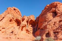 Долина ландшафта утеса огня красного Стоковая Фотография