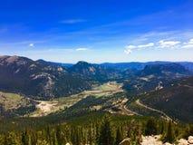 Долина в национальном парке скалистой горы Стоковые Фото