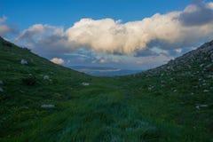 Долина в сильном ветере Стоковое Изображение