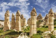 Долина влюбленности в национальном парке Goreme cappadocia Стоковая Фотография RF