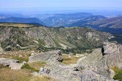 Долина в orientales Пиренеи, Франция Castellane стоковое фото rf