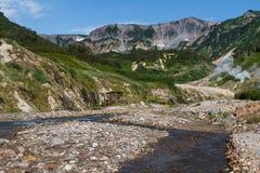 Долина гейзеров kamchatka Стоковая Фотография