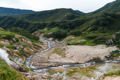 Долина гейзеров kamchatka Стоковые Изображения RF