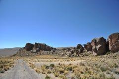 Долина горы известная для старых картин пещеры с изображениями животных Стоковое Изображение RF
