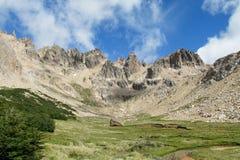 Долина горы национального парка Nahuel Huapi Стоковые Фото