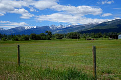 Долина горы Bitterroot - Монтана стоковое изображение rf