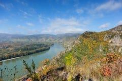 Долина Дуная в Wachau; Австрия Стоковое Изображение RF