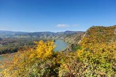 Долина Дуная в Wachau; Австрия Стоковая Фотография RF