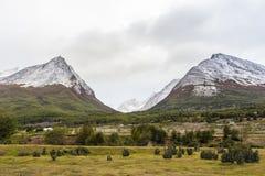 Долина ледника в Патагонии Стоковое Фото