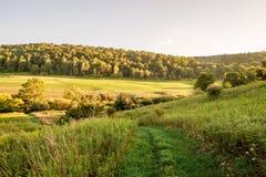Долина захода солнца Стоковое Изображение RF