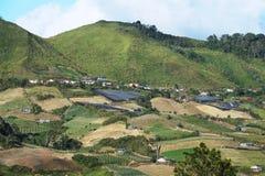 Долина земледелия около горы Kinabalu стоковые изображения rf