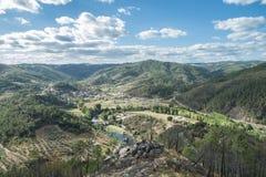Долина зоны витикультуры ‹â€ ‹â€ в Португалии Стоковое фото RF