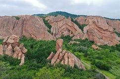 Долина и горные породы на Roxborough Стоковое Изображение RF