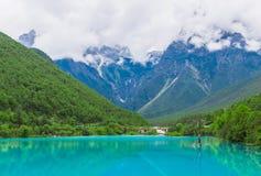 Долина или lanyuegu голубой луны Стоковое Изображение RF