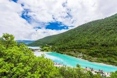 Долина или lanyuegu голубой луны Стоковое Изображение