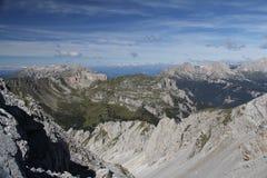 Долина и Latemar Monzoni Стоковое фото RF