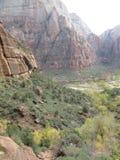 Долина каньона, национальный парк Сиона, Юта Стоковое Изображение