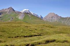 Долина на Col du Петит-Свят-Бернарде в Франции стоковая фотография rf