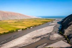Долина область реки Ocona, Arequipa, Перу Стоковые Фотографии RF