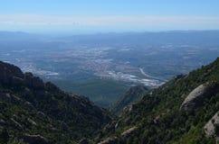 Долина от горы Монтсеррата Стоковое Изображение RF