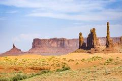 Долина памятника в Аризоне, butte тотемного столба Стоковое Изображение