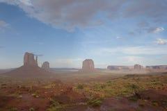Долина памятника в дожде Стоковое Фото