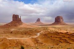 Долина памятника, парк долины памятника племенной Стоковое Изображение RF