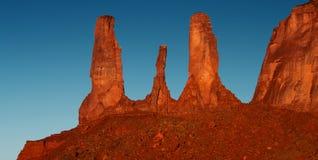 Долина памятника, w Стоковые Изображения