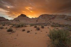 Долина парка штата Невады огня Стоковое фото RF