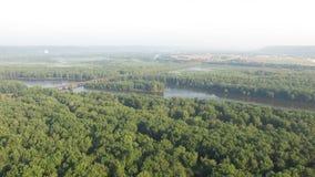 Долина Рекы Upper Mississippi, природа сток-видео