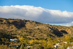 Долина с домами Стоковое фото RF