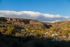 Долина с домами Стоковые Фото