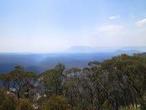 Долина с дымом Стоковое Изображение