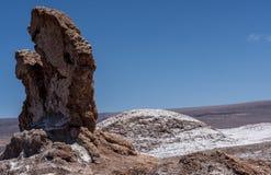 Долина луны, пустыня луны Ла Valle de Atacama, Чили Стоковая Фотография