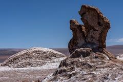 Долина луны, пустыня луны Ла Valle de Atacama, Чили Стоковые Изображения