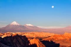 Долина луны, Atacama, Чили Стоковая Фотография RF